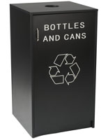 Restaurant Recycling Unit with Black Finish