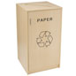 Paper Recycling Bin Container with Engraved Message