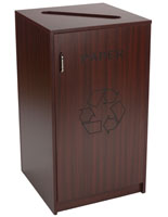 36 Gallon Recycling Unit with Mahogany