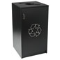 Commercial Recycling Receptacles with Swing Open Door