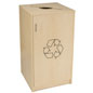 Café Recycling Cabinet with Non-Lockable Door