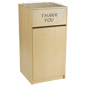 Maple Tray Top Waste Receptacle, Wooden