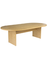 "Oak Conference Table, 96"" Wide"