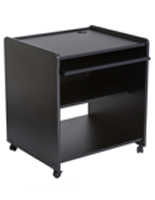 "Computer Trolley Desk, 24"" Overall Depth"