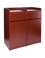 Particle board waste cabinet