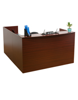 "L-Shaped Reception Desk, 71"" Overall Width"