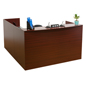 "L-Shaped Reception Desk, 86"" Overall Depth"