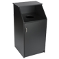 "Black Waste Receptacle Enclosure, 21"" Top Shelf"