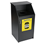 Trash can with custom printing features 36 gallon waste capacity