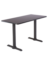 Wooden Training Table with Steel Supports