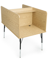 Oak Study Carrel Desk