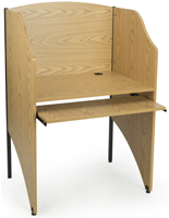 Oak Carrel Table