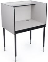 Gray Work Carrel