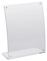 8x10 Curved Acrylic Ad Frame for Product Information