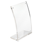 5x7 Plastic Table Frame with Curved Front Panel