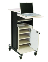 Computer Presentation Cart with Adjustable Laptop Shelf