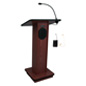 "Wood Podium with Wireless PA, 21"" Overall Width"