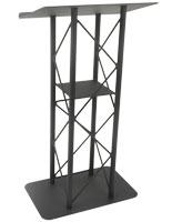 Open Front Black Steel Podium