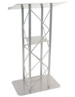 Silver Steel Podium Stand