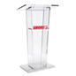 Transparent Podium with Custom Graphic with Shelf