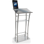 Silver iPad Lecture Stand with Clamping Enclosure