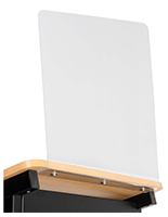 Acrylic podium sneeze guard for LCTMO series with clear design
