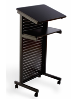 Mobile Presentation Stand Has a Tilted Flat Panel Reading Surface