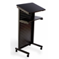 Mobile Lecture Stand has a Black Steel Privacy Shield