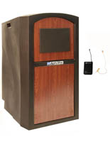 Deluxe Floor Lectern with Lapel Mic