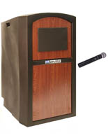 "47"" Tall Sound System Lectern"