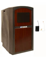 """47""""  High Portable Lectern with Sound System"""