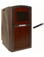 "47"" Tall Podium with Wireless Microphone"