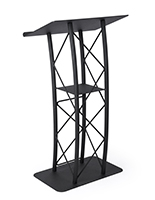 black truss podium