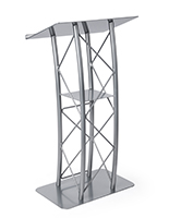 Truss lectern with curved design