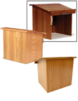 Folding Table Top Solid Wood Lectern