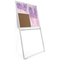 Leaning wall advertising display rack with included hardware