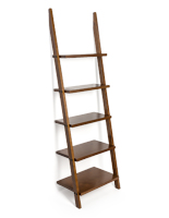 Non-slip feet shelf ladder bookcase