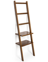 Leaning Ladder Rack Shelving with Non-Slip Feet