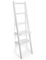 White Retail Leaning Ladder Rack Shelves