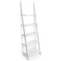 Contemporary White Leaning Ladder Shelves