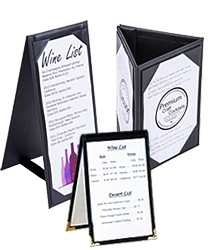 Leatherette Table Tents