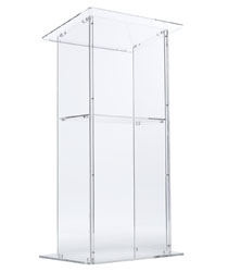 Clear Acrylic Podium with Slanted Reading Surface