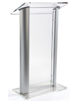 Contemporary Aluminum & Acrylic Podium