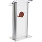 Plastic Lectern with Multi-Color Imprint w/ Rubber Feet