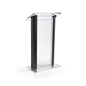 Black Podium Lectern with Large Reading Surface