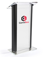 2-Color Custom Black Lectern