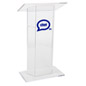 Custom Graphic Plexiglass Lectern, Weighs 42 lbs