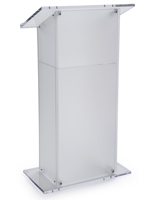 Modesty Frosted Plexiglass Pulpit