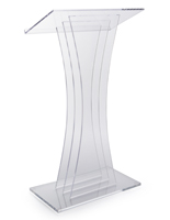 Clear Acrylic Lectern with Modern Design
