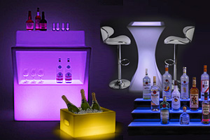 LED bar furnishings and accessories